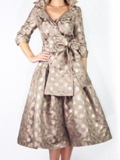 Mocha Brocade Dior Dress