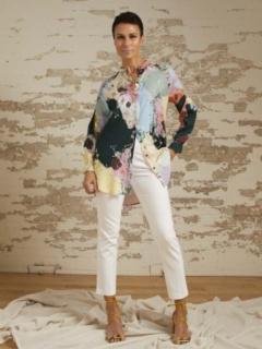 Aurora Painterly Print Tunic