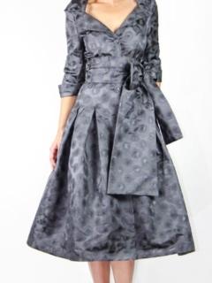 Steel Gray Brocade Dior Dress