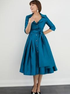 Teal Royal Taffeta Dior Dress