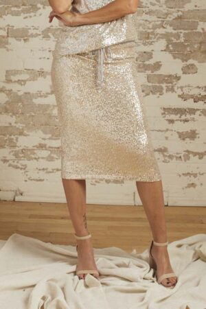 Stella Oyster Baby Sequin Skirt