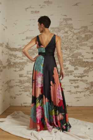 Rose Oversize Floral Gown
