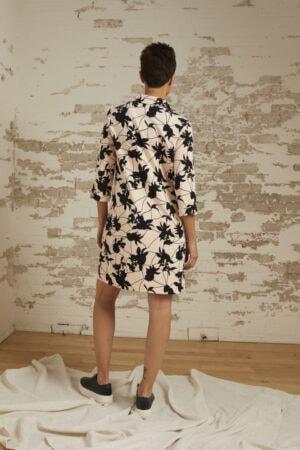 Morgan Blush/Black Print Chemise Dress