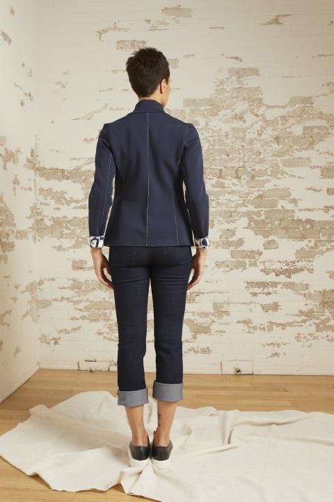 Amber Navy Ponte Jacket