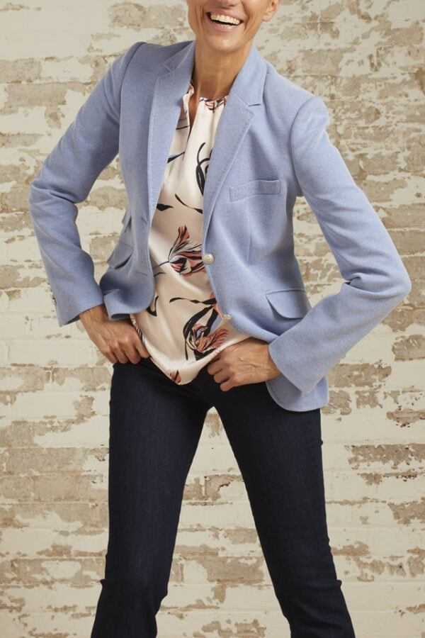 Briana Sky Blue Tweed Riding Jacket