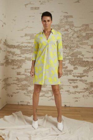 Morgan Lemon/Dove Chemise Dress