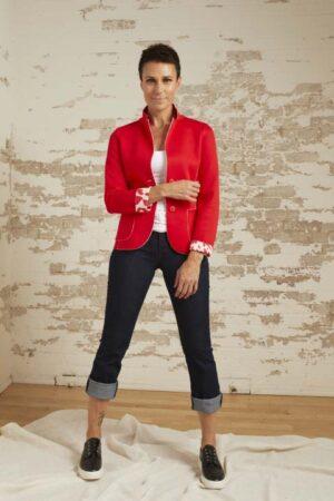 Amber Poppy Ponte Jacket