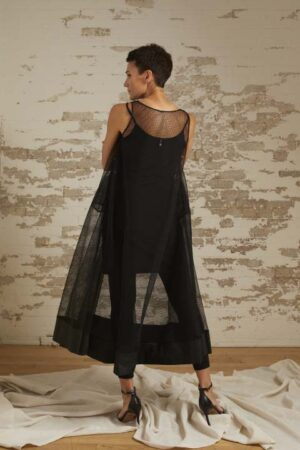 Grace Organza A-Line Trapeze Dress