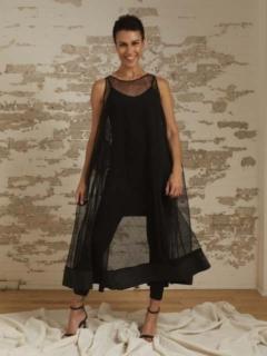 Grace Organza A-Line Trapeze Dress