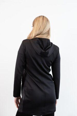 Cargorock Black Knee Length Zipper Hoodie