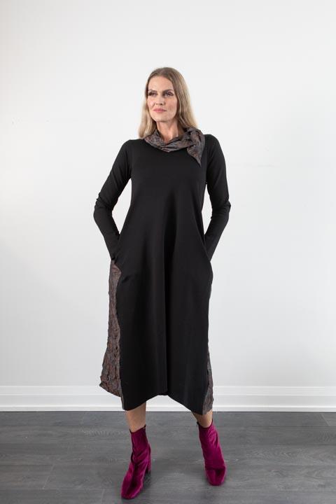 Elit Black/Taupe Maxi Dress