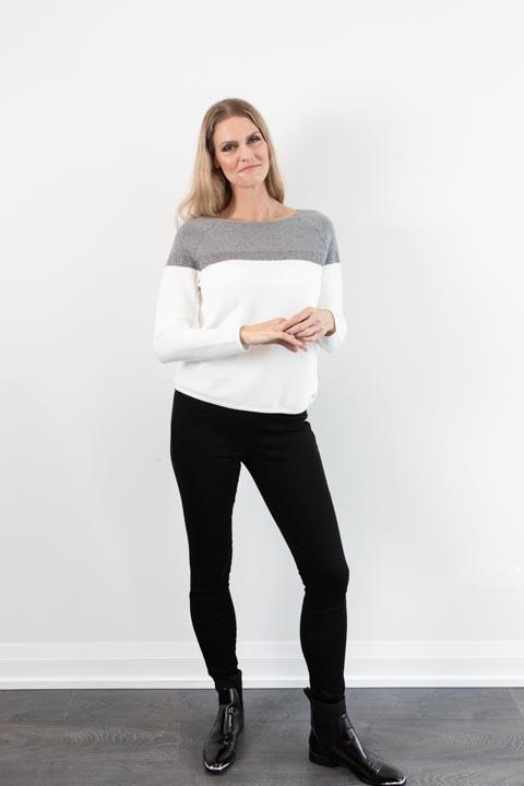 ICE Cream + Gray Knit + Metallic Sweater