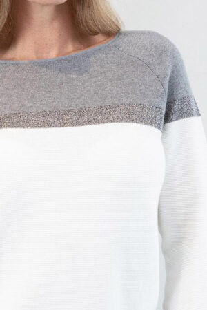ICE Cream + Gray Knit + Metallic Sweater