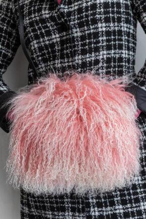 Jasmin Pink Snow Top Muff Bag