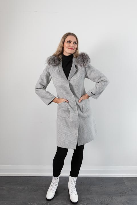 KAIA Grey Reversible Coat