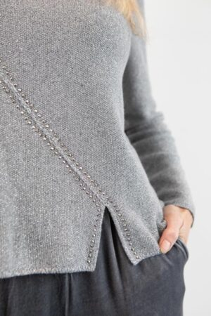 MONIKA Silver Knit Sweater