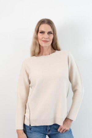 Riley Ecru Pullover Sweater