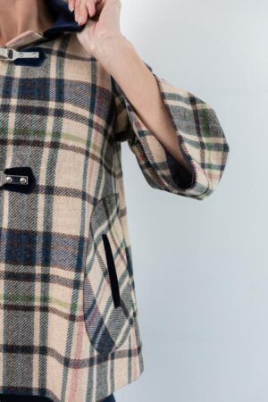 Sophie Plaid A-line Swing Jacket
