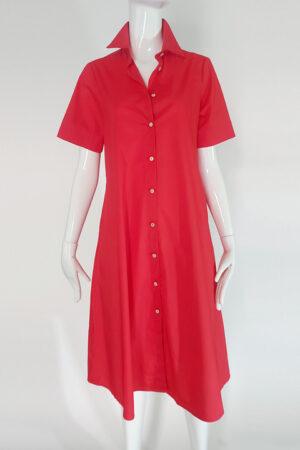 Lucille Cotton A-Line Shirt Dress